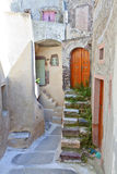 Emporio village at Santorini, Greece royalty free stock photo