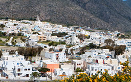 Emporio village at Santorini island, Greece Royalty Free Stock Images