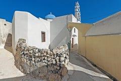 Emporio village street at Santorini in Greece Royalty Free Stock Image