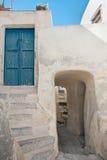 Emporio village street in Santorini, Greece 2 Royalty Free Stock Photo