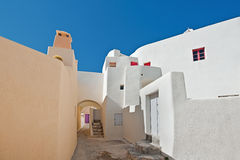 Emporio village street in Santorini, Greece 2 Stock Photography