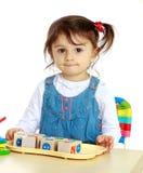 Emporté par une petite fille Photo libre de droits