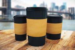 Emportez les tasses de café illustration de vecteur