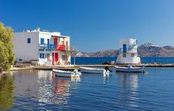 Empourios, Milos island, Cyclades, Greece Stock Image