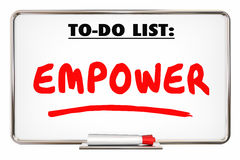 Empower Allow Permit Entrust Writing Word. 3d Illustration Royalty Free Stock Photography