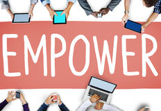 Empower Authority Permission Empowerment Enhance Concept Stock Photos