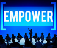 Empower Authority Permission Empowerment Enhance Concept.  Royalty Free Stock Photo
