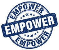 Empower blue grunge stamp Royalty Free Stock Images