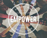 Empower Empowering Empowerment Improvement Concept royalty free stock photos