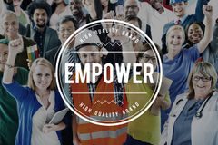Empower Empowering Empowerment Improvement Concept royalty free stock image