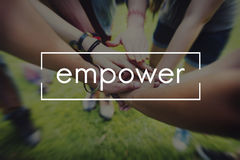 Empower Enable Inspire Lead Concept Royalty Free Stock Photos