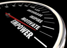 Empower Encourage Motivate Inspire Speedometer Royalty Free Stock Photo