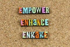 Empower migliorare per impegnare direzione fotografie stock libere da diritti