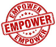 Empower red grunge stamp Stock Photo