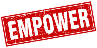 Empower square stamp Royalty Free Stock Photography