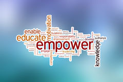 Empower word cloud Royalty Free Stock Photo