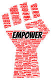 Empower word cloud shape Royalty Free Stock Photo