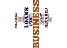 Empower Your Business With The Help Of Secured Business Loans Word Cloud Concept Royalty Free Stock Photos