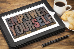 Empower yourself concept Royalty Free Stock Photos