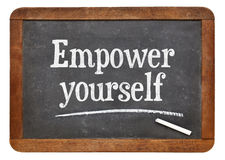 Empower yourself motivational phrase Royalty Free Stock Images