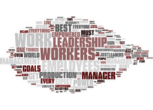 Empowered Leadership Word Cloud Concept Stock Images