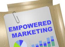 Empowered Marketing concept Stock Image