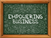 Empowering Business - Hand Drawn on Green Chalkboard. Royalty Free Stock Images