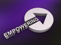 Empowering sign with arrow Stock Photo