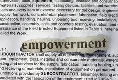 Empowerment. Text in blur with definition abstract Royalty Free Stock Photos