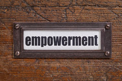 Empowerment - file cabinet label Royalty Free Stock Image
