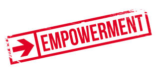 Empowerment rubber stamp Stock Image