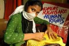 Empowerment van de vrouw Stock Foto
