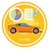 Empréstimo automóvel aprovado ilustração royalty free