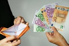 Empréstimo da desigualdade de Bankcruptcy da doação foto de stock royalty free