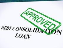 Empréstimo de consolidação do débito aprovado Imagem de Stock Royalty Free
