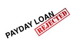 Empréstimo do dia de pagamento rejeitado imagens de stock