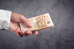 Empréstimo do dinheiro Imagem de Stock