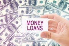 Empréstimo do dinheiro em cédulas do dólar Foto de Stock Royalty Free