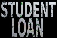 Empréstimo do estudante fotografia de stock