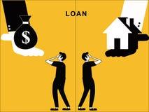 Empréstimo e casa que oferecem equipar ilustração do vetor