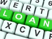 Empréstimo ou financiamento da mostra das chaves do empréstimo Fotografia de Stock