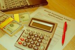 Empréstimos comerciais pequenos empréstimos comerciais baseados no rendimento Fotografia de Stock