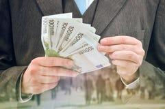 Empréstimos de prestação no dinheiro foto de stock royalty free