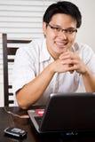 Empreendedor asiático de trabalho imagens de stock