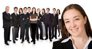 Empreendedor e sua equipe do negócio Fotografia de Stock Royalty Free