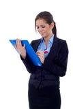 Empreendedor que toma notas fotografia de stock
