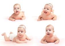 Emprega a coleção do infante de sorriso isolada Fotos de Stock