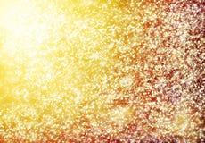 Emprega o fundo dourado do grunge, arte -final da quadriculação Fotografia de Stock Royalty Free