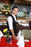 Empregada de mesa Fotografia de Stock