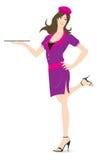 Empregada de mesa ilustração stock